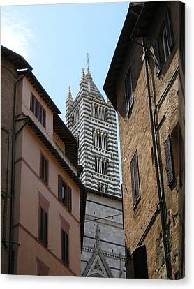 Canvas Print featuring the photograph View Of The Duomo by Victoria Lakes