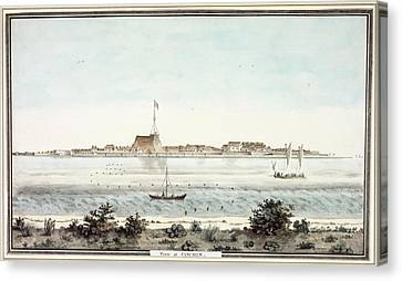 View Of The Fort Of Cochin Canvas Print by British Library