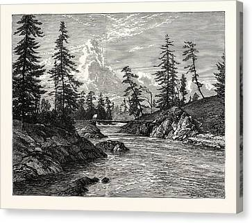 Vancouver Canvas Print - View Of The Gorge, Or Narrowest Point Of The Western by English School