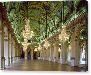 View Of The Grande Salle Des Fetes Canvas Print by French School