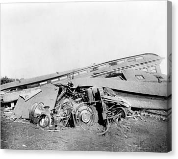 View Of The Great Railroad Wreck Canvas Print by Everett