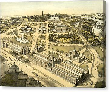 View Of The Ground And Buildings, International Exhibition Canvas Print by Litz Collection