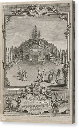 Hermitage Canvas Print - View Of The Hermitage by British Library