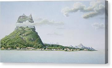 View Of The Island Of Bora Bora Canvas Print by Antoine Lejeune and Chazal