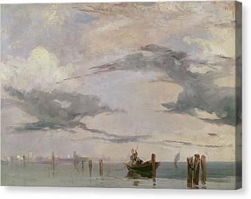 View Of The Lagoon Near Venice, 1826  Canvas Print by Richard Parkes Bonington