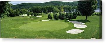 View Of The Leatherstocking Golf Canvas Print by Panoramic Images