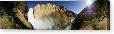 View Of The Lower Yellowstone Falls Canvas Print