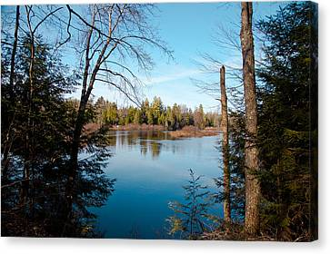 View From The Lock And Dam Trail Canvas Print by David Patterson