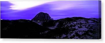 View Of The Morro Rock At Dusk, Morro Canvas Print