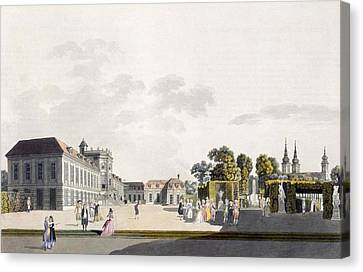 View Of The Palace And Gardens Owned Canvas Print by Laurenz Janscha