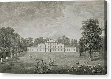 View Of The Palace At Kew Canvas Print by John Joshua Kirby