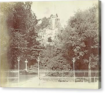 View Of The Park Villetta Di Negro In Genoa Canvas Print by Artokoloro