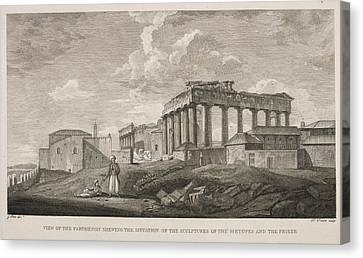 View Of The Parthenion Canvas Print by British Library