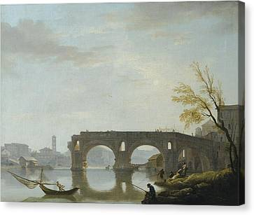 View Of The Ponte Rotto Canvas Print by Celestial Images