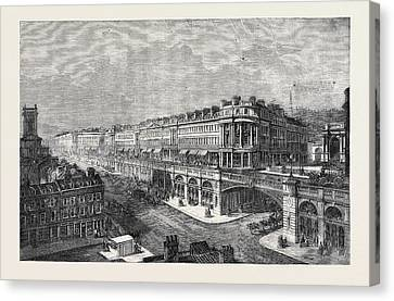 View Of The Proposed High Level Road Or Viaduct From St Canvas Print