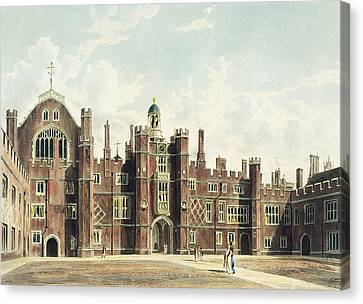 View Of The Quadrangle At Hampton Court Canvas Print by William Westall
