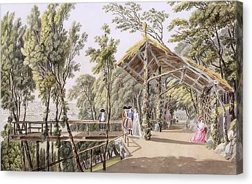 View Of The Reisenberg Gardens Canvas Print by Laurenz Janscha