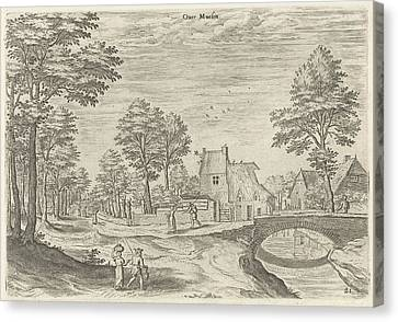 City Scape Canvas Print - View Of The Road To Brussels, Belgium, Print Maker Hans by Hans Collaert I And Hans Bol And Jacob Grimmer