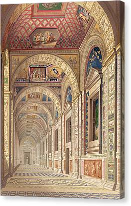 View Of The Second Floor Loggia Canvas Print by Italian School