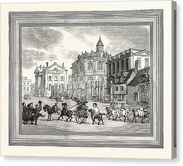 View Of The Sheldonian Theatre Printing House Etc Canvas Print by English School
