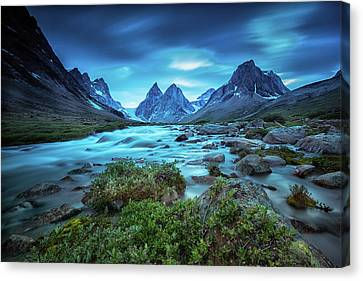 View Of The Skjoldungen Range Canvas Print by Andy Mann