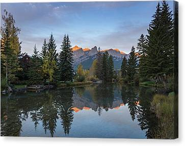 View Of The Spring Creek Pond Canvas Print by Panoramic Images