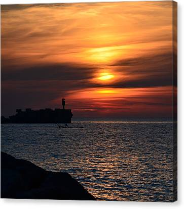 View Of The Sunset Canvas Print by Gynt