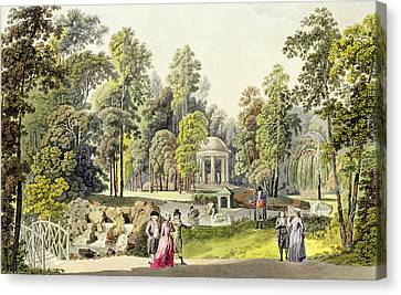 View Of The Temple Of Diana At Erlaw Canvas Print by Laurenz Janscha