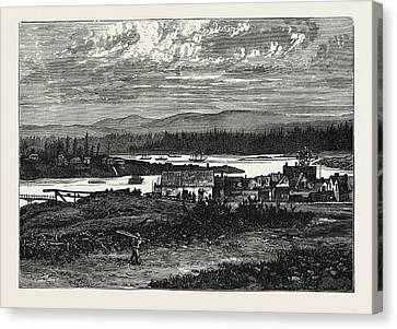 Vancouver Canvas Print - View Of The Western Suburbs Of Victoria by English School