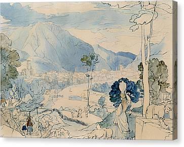 View Of Trento  Canvas Print