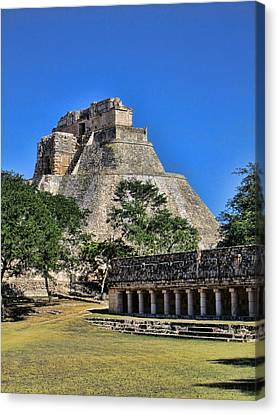 View Of Uxmal 01 Canvas Print by James  Bond