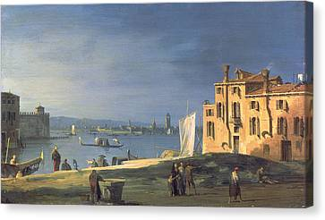View Of Venice Canvas Print by Canaletto