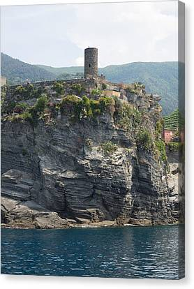 View Of Watchtower At Vernazza, La Canvas Print