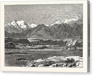 View Of Yangi Hissar Canvas Print