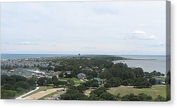 View Off Currituck Beach Light 3 Canvas Print by Cathy Lindsey