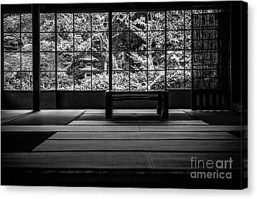 View On And Old Temple Garden Canvas Print by Dean Harte