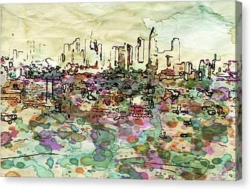 View On Frankfurt Downtown Canvas Print by Yury Malkov