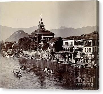 Shakespear Canvas Print - View On The Jhelum At Srinagar by British Library