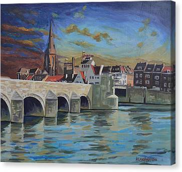 View On Wyck East Bank Maastricht Canvas Print