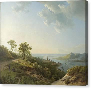View Over Heidelberg, 1837 Canvas Print by Barend Cornelis Koekkoek