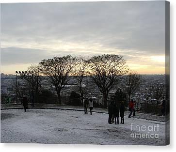 View Over Paris Canvas Print