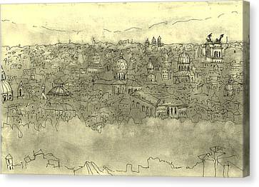 View Over Roma Canvas Print by Mikko Tilus
