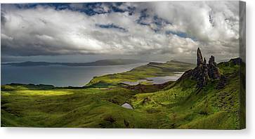 View Over The Old Man Of Storr Canvas Print by Panoramic Images