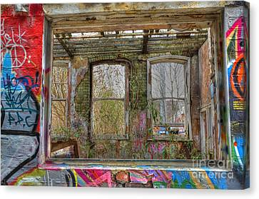 View Through A Window Canvas Print by David Birchall