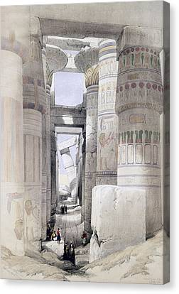 View Through The Hall Of Columns Canvas Print by David Roberts