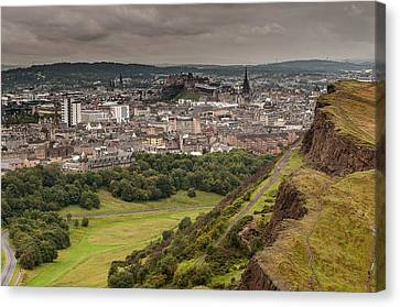 Canvas Print featuring the photograph View To Edinburgh by Sergey Simanovsky