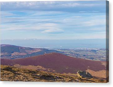 View Towards Bray And Dublin From Djouce Summit Canvas Print
