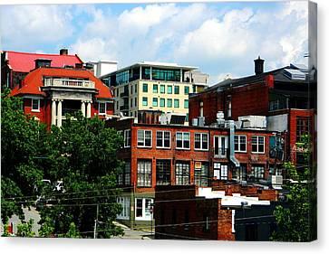 View Towards Lexington Avenue In Asheville Canvas Print