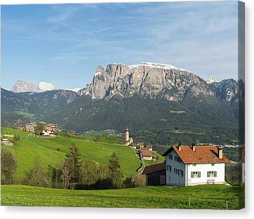 View Towards The Seiser Alm, Seen Canvas Print by Martin Zwick