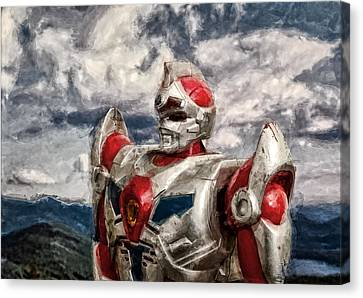 View Wth A Robot Canvas Print by Jeff  Gettis